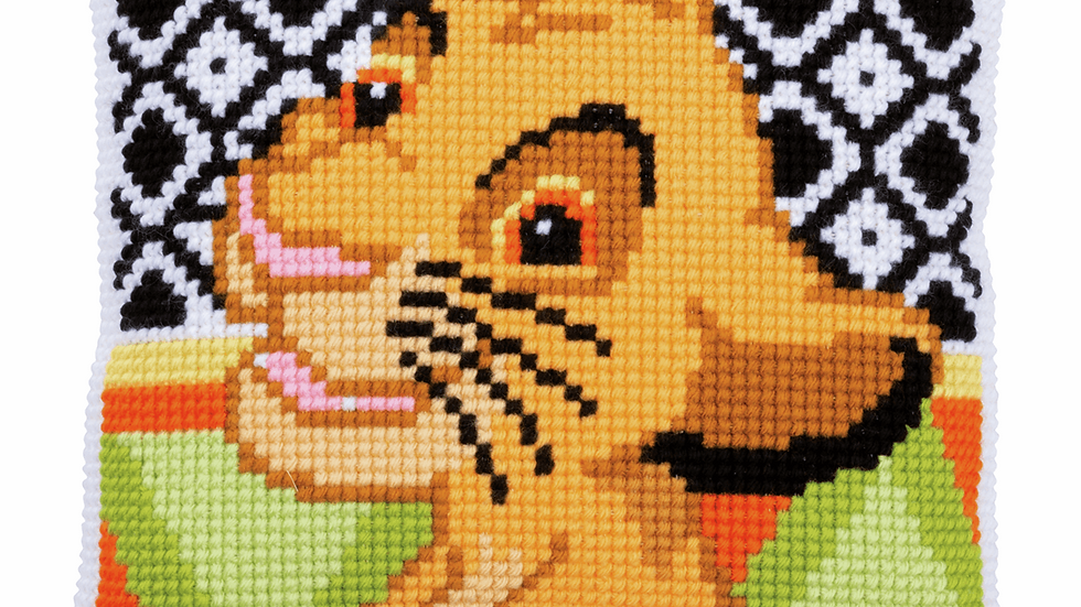 Vervaco: Cross Stitch Kit: Cushion: Disney: Simba