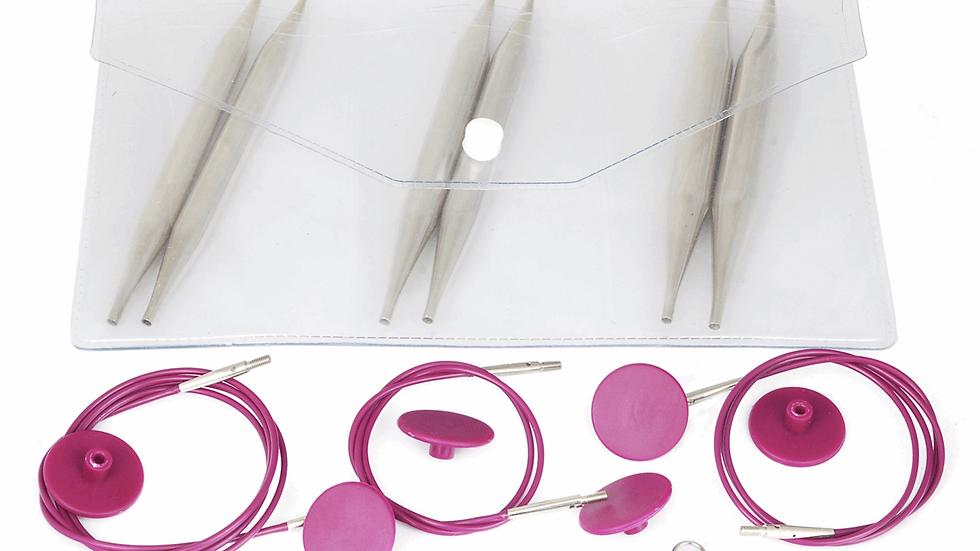 KnitPro: Nova Metal:Knitting Pins: Interchangeable Circular: Chunky Set