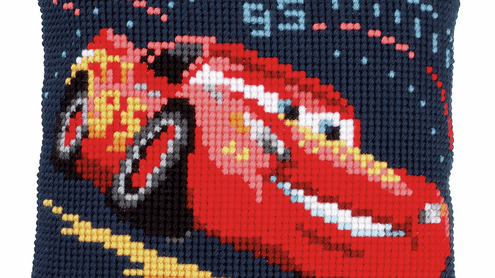 Vervaco: Cross Stitch Kit: Cushion: Disney: Lightning McQueen
