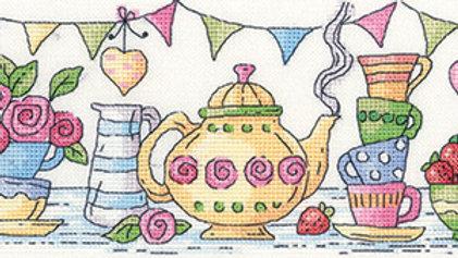 Heritage Crafts Afternoon Tea Cross Stitch Kit