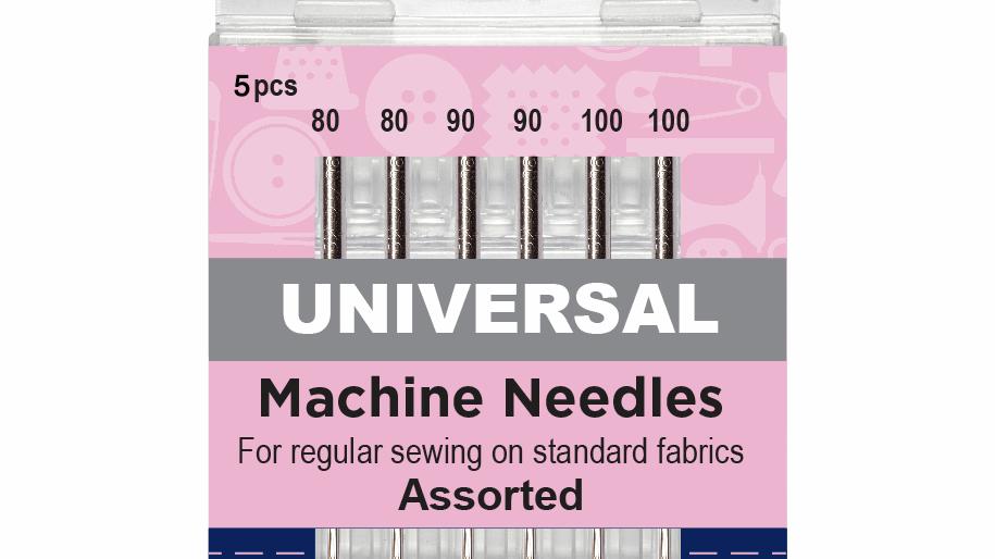 Hemline Sewing Machine Needles: Universal: Mixed Heavy: Pack of 5