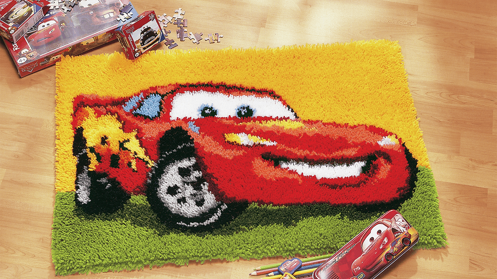 Vervaco: Latch Hook Kit: Rug: Disney: Lightning McQueen