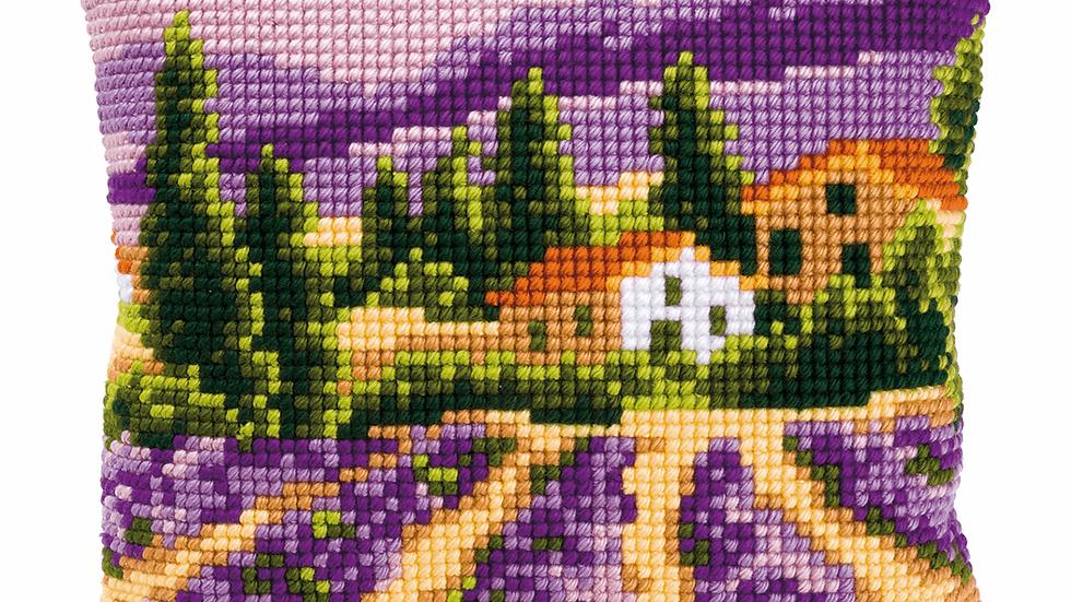 Vervaco: Cross Stitch Kit: Cushion: Lavender Fields