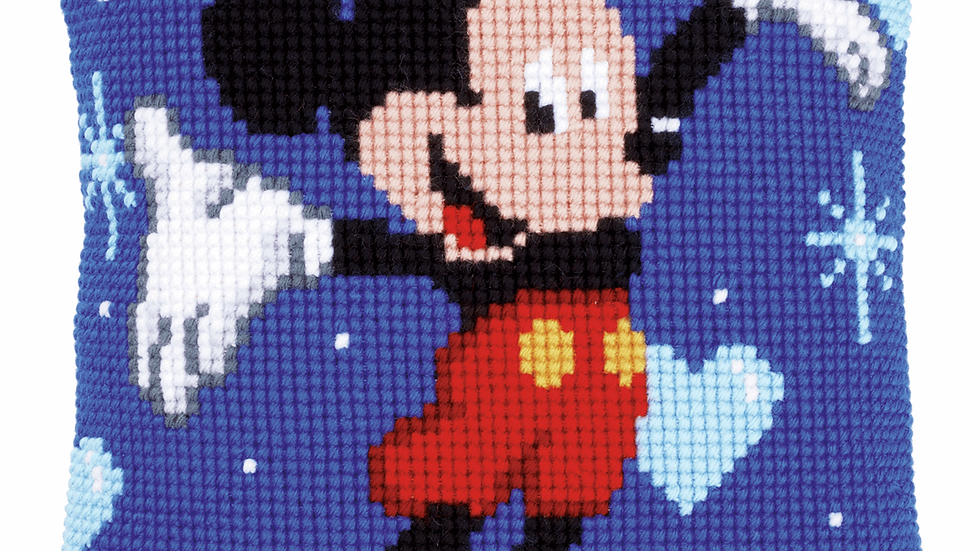 Vervaco: Cross Stitch Kit: Cushion: Disney: Mickey Mouse