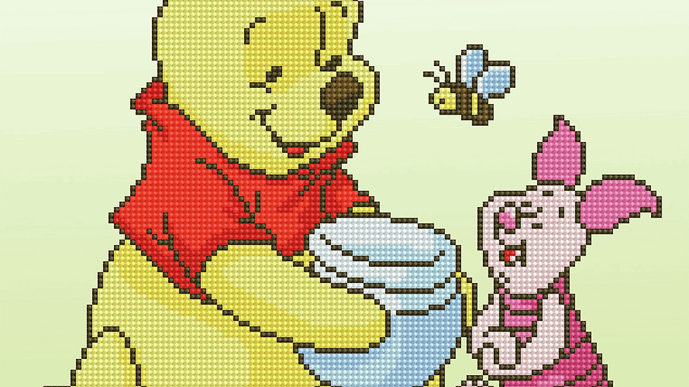 Vervaco: Diamond Painting: Disney: Pooh with Piglet