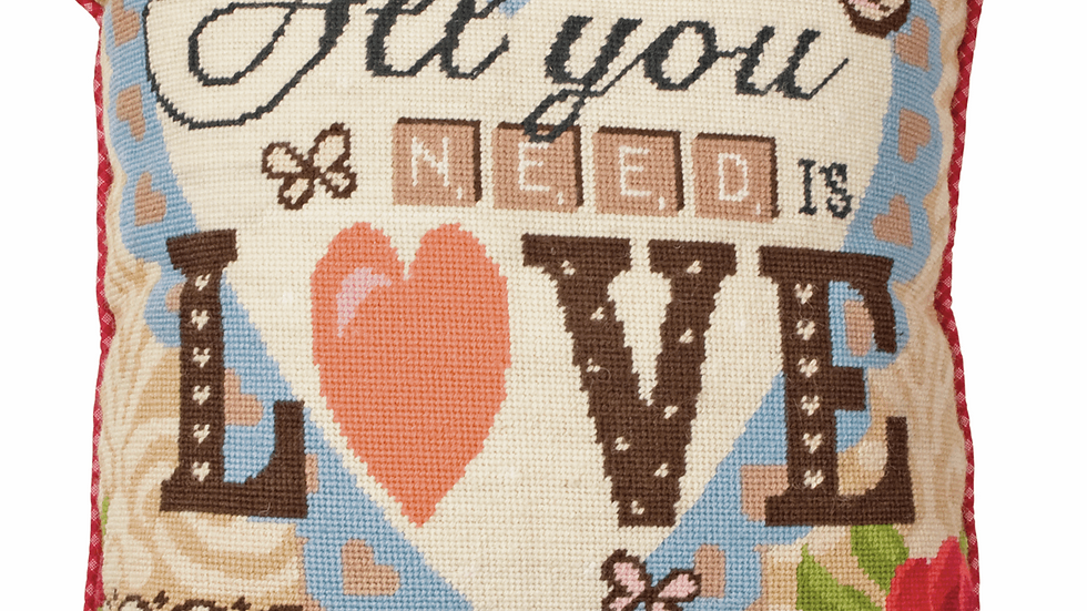 Anchor: Tapestry Kit: Cushion: All You Need is Love