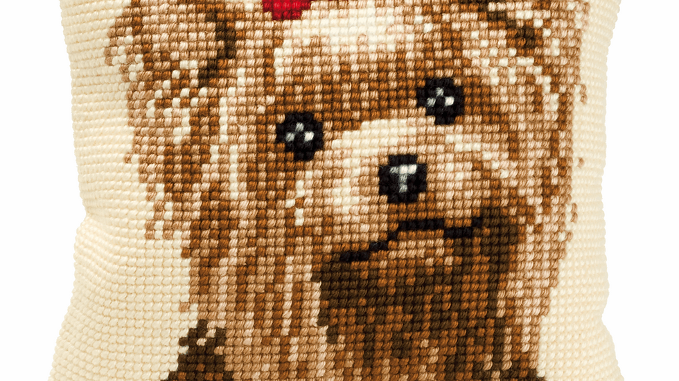 Vervaco: Cross Stitch Kit: Cushion:Yorkshire Terrier