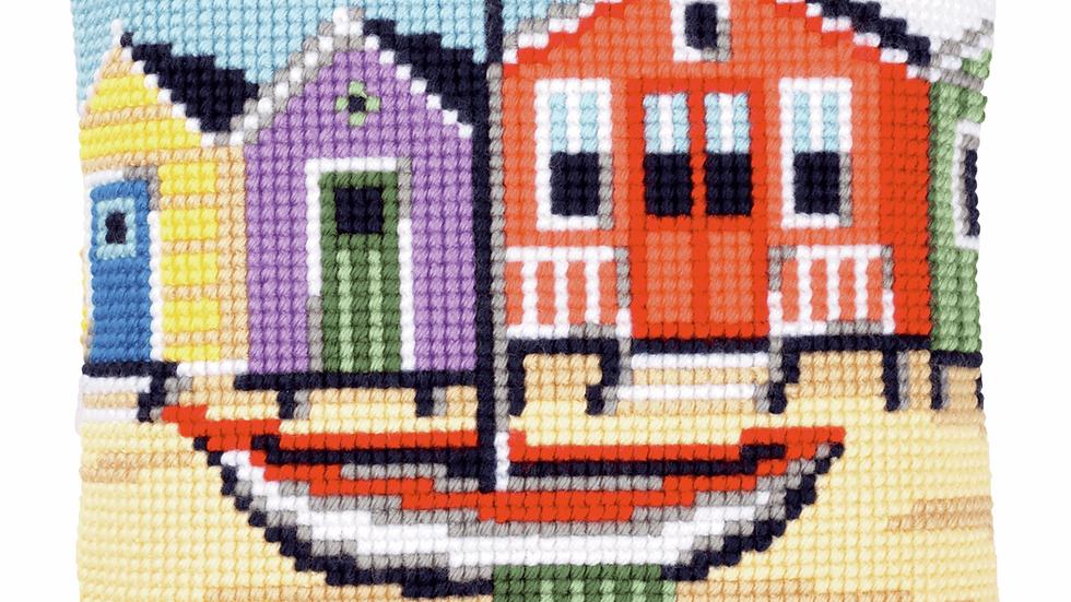 Vervaco: Cross Stitch Kit: Cushion: Boat