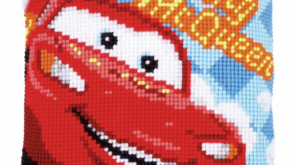 Vervaco: Cross Stitch Kit: Cushion: Disney: Lightning McQueen