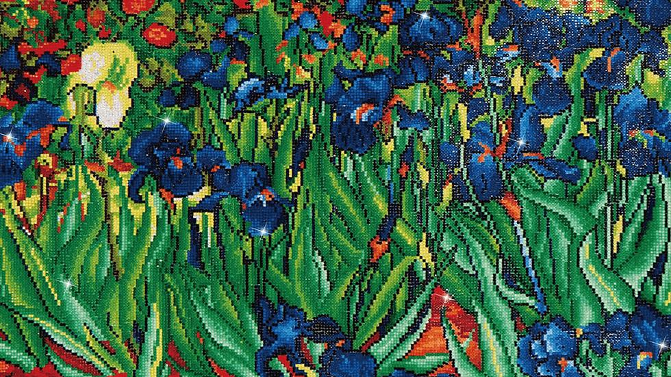 Diamond Dotz Irises (Van Gogh) Cameo