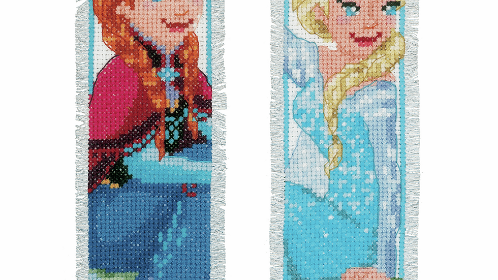 Vervaco: Counted Cross Stitch Kit: Bookmark: Disney: Frozen-Sisters Forever (2)