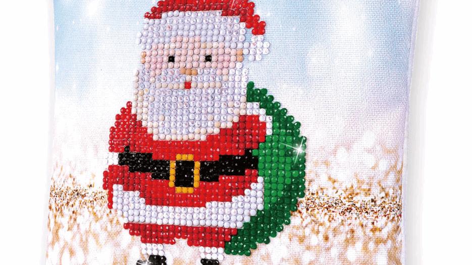 Diamond Dotz Cushion Santa Claus Sack