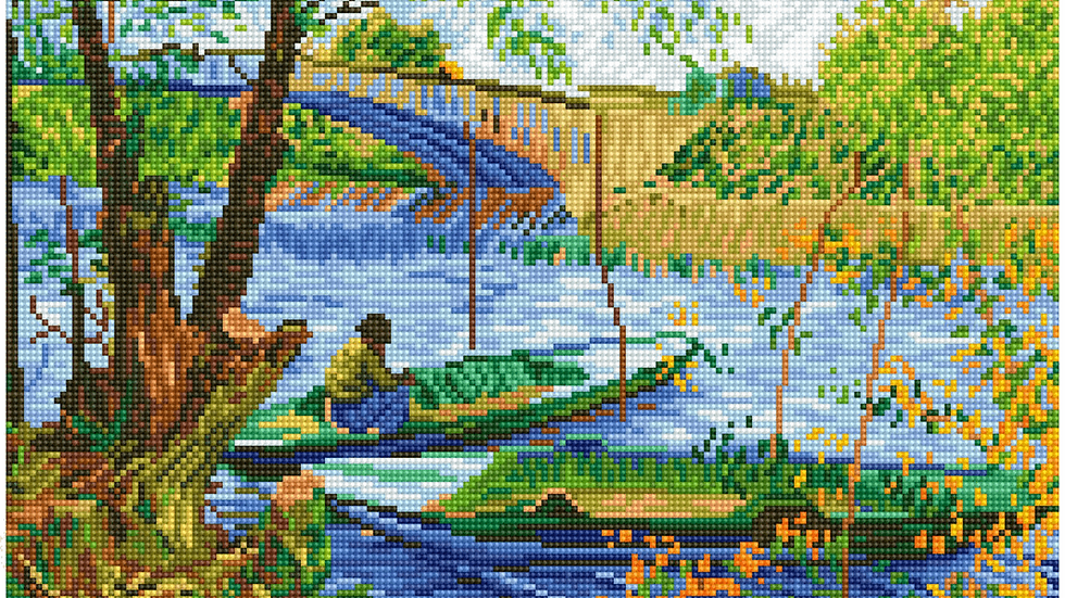 Diamond DotzFishing in Spring (Van Gogh)
