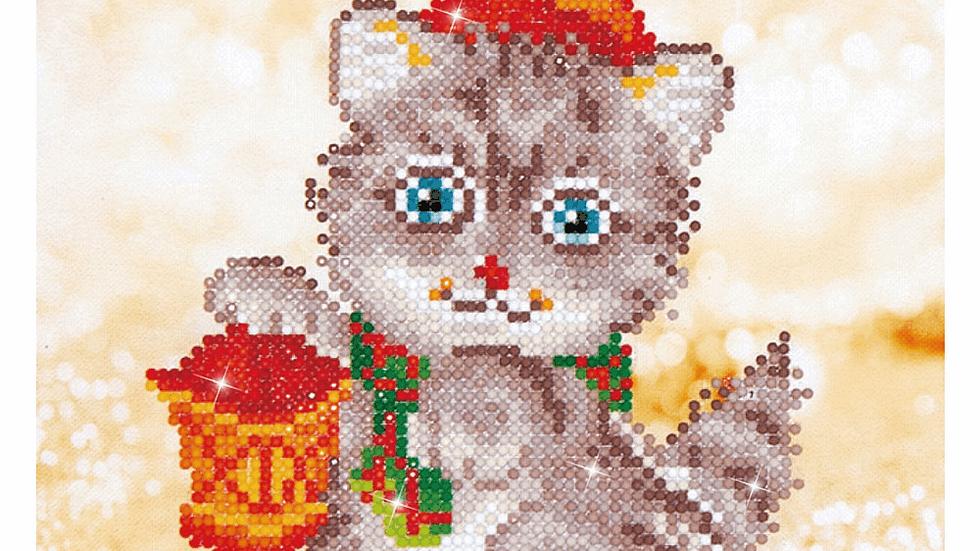 Diamond Dotz Christmas Kitten Glow