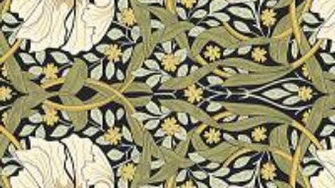V&A William Morris Fabric - Pimpernel, Blue Night