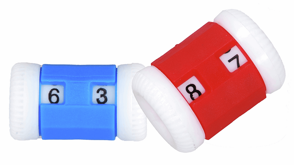 KnitPro: Row Counters: Combi Pack: Size 2.00mm to 6.50mm