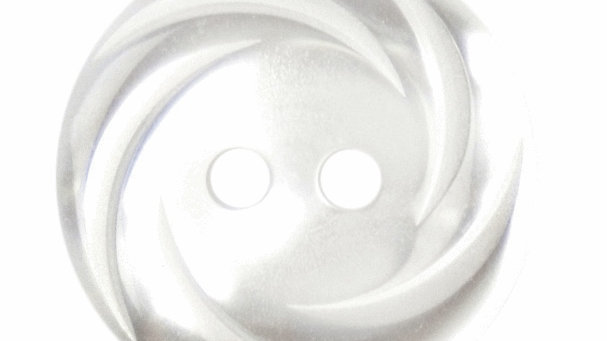 Swirl Rimmed White Buttons 18mm