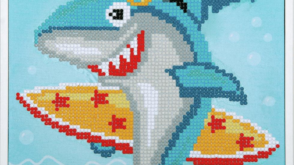 Vervaco: Diamond Painting: Surfing Shark