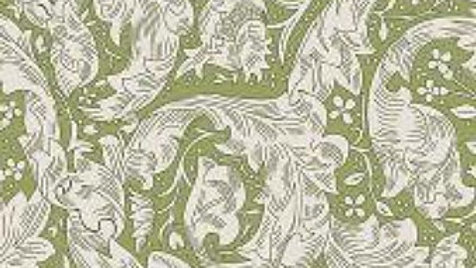 V&A Williams Morris Fabric - Batchelor's Button, Green