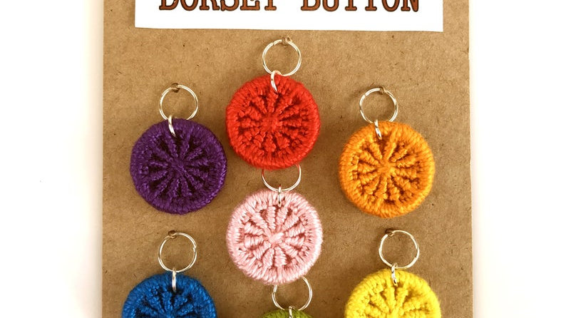 Handmade Dorset Button Knitting Stitch Markers - by Gini's Boutique