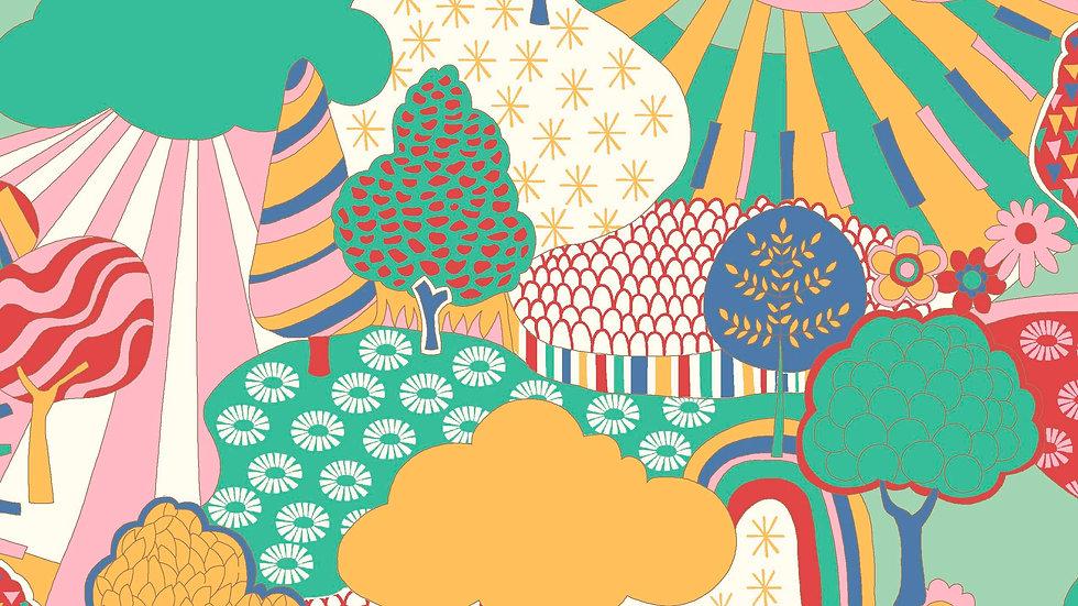 Liberty Carnaby Bohemian Brights Fabric - Sunny Afternoon, Sunshine