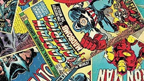 Marvel Comic Book Fabric
