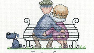Heritage Crafts Golden Years Together Forever Cross Stitch Kit