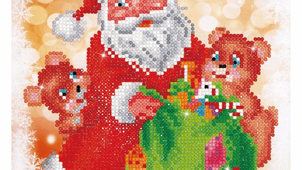 Diamond Dotz Santa and Teddies