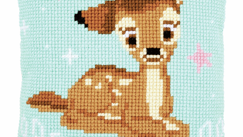 Vervaco: Cross Stitch Kit: Cushion: Disney: Bambi