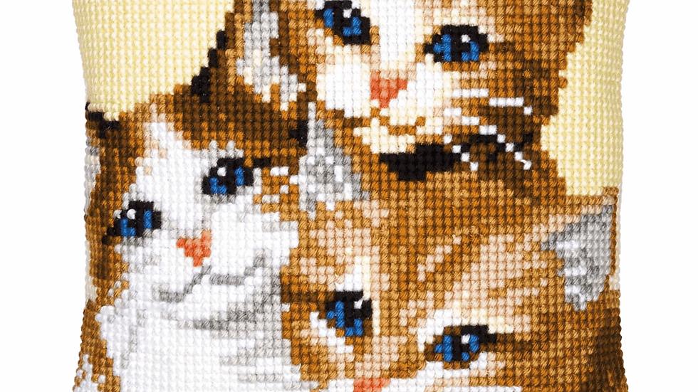 Vervaco: Cross Stitch Kit: Cushion: Kittens