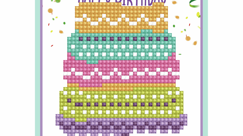 Diamond Dotz Greeting Card Kit Happy Birthday Cake
