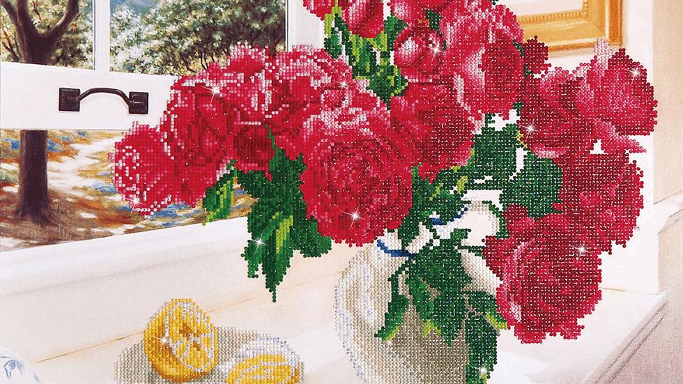 Diamond Dotz Roses by The Window