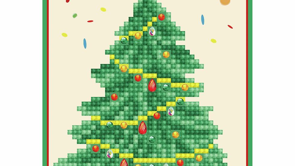 Diamond Dotz Greeting Card Kit Merry Christmas Tree