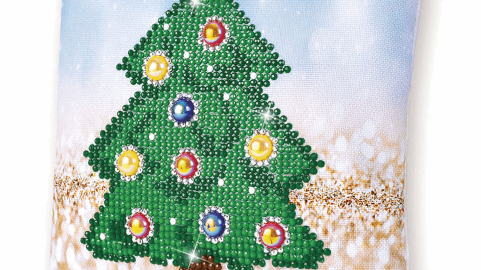 Diamond Dotz Cushion Christmas Tree