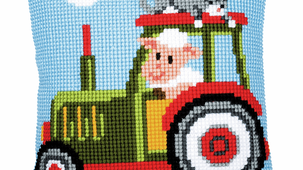 Vervaco: Cross Stitch Kit: Cushion: Tractor 1