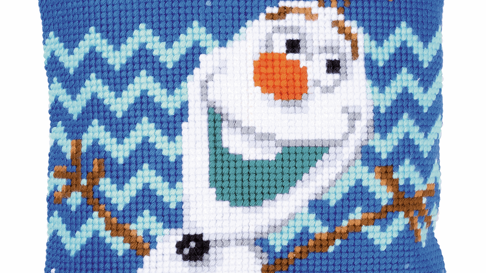 Vervaco: Cross Stitch Kit: Cushion: Disney: Olaf