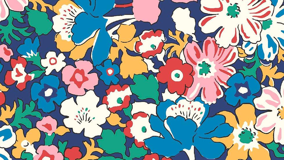 Liberty Carnaby Bohemian Brights Fabric - Westbourne Posy, Indigo