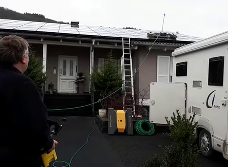 SolarCleano robot to wet cleaning of solar panels in Switzerland