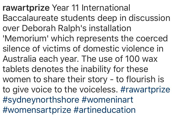 Instragram - Ravenswood National Womens Art Award
