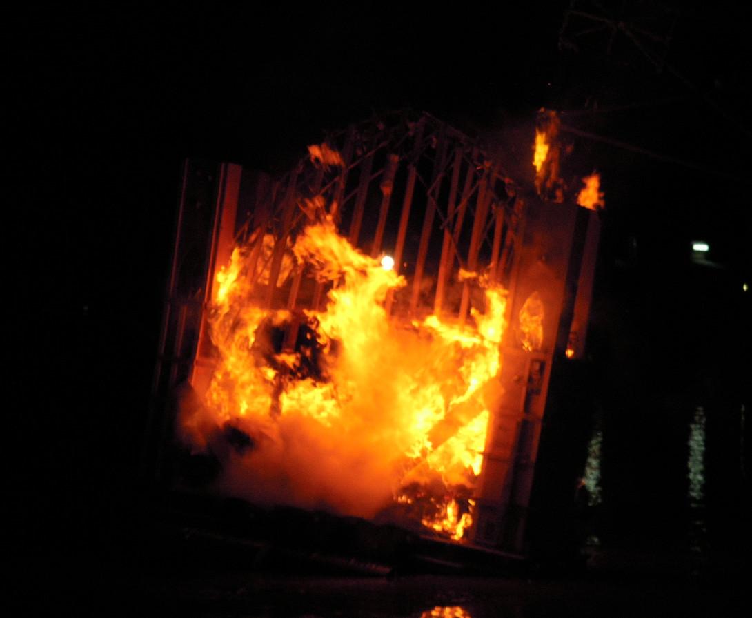 Fire Sculpture 2010- Sydney Harbour Brid