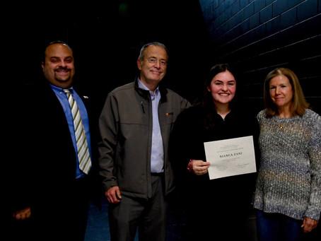 Bianca Zanni receives the first annual Meghan Burnett Instrument Fellowship Award