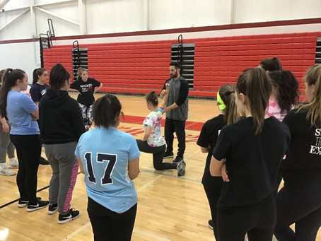 High Level Throwing Clinic at WMHS