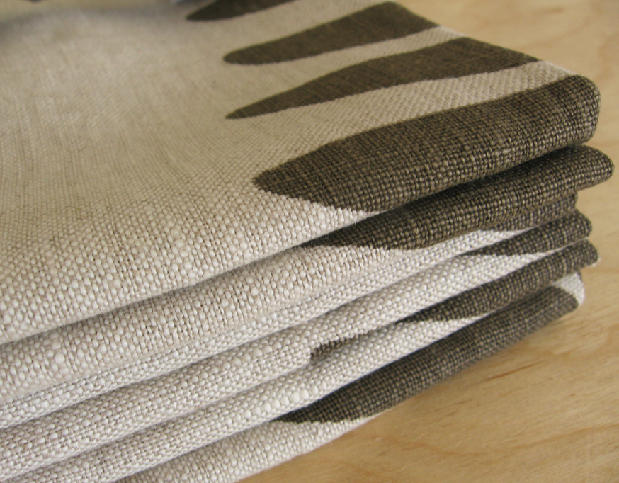 Linen Napkin Set - Ferns