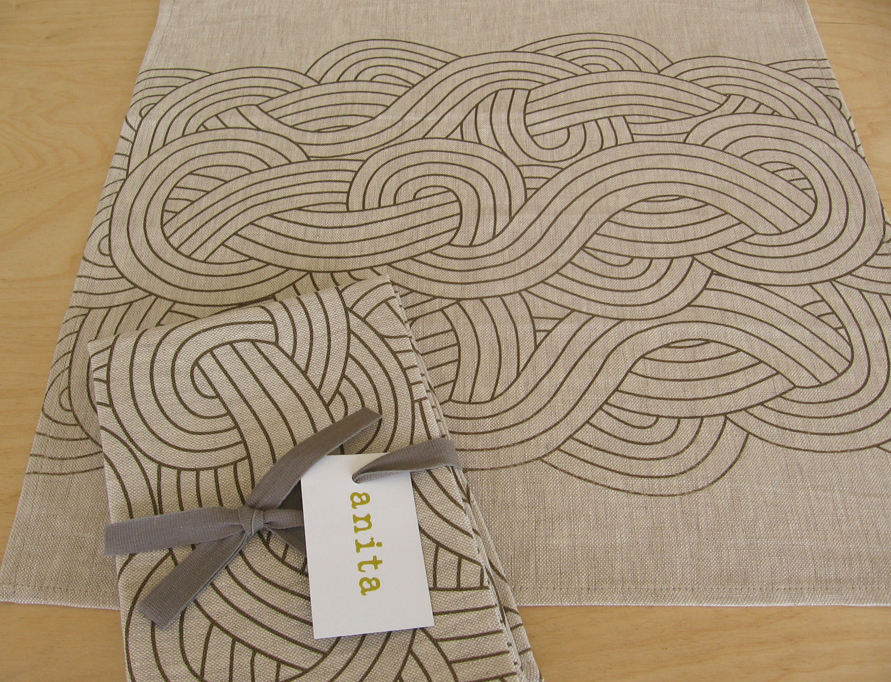 Linen Napkin Set - Waves