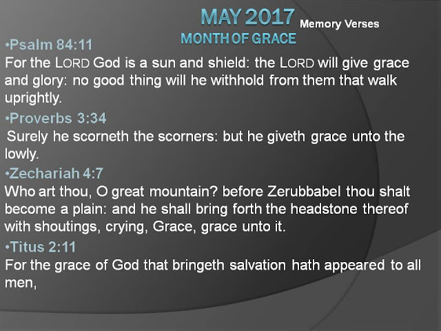 May 2017: Month of Grace