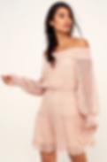 Lulu's Lace Off Shoulder Dress