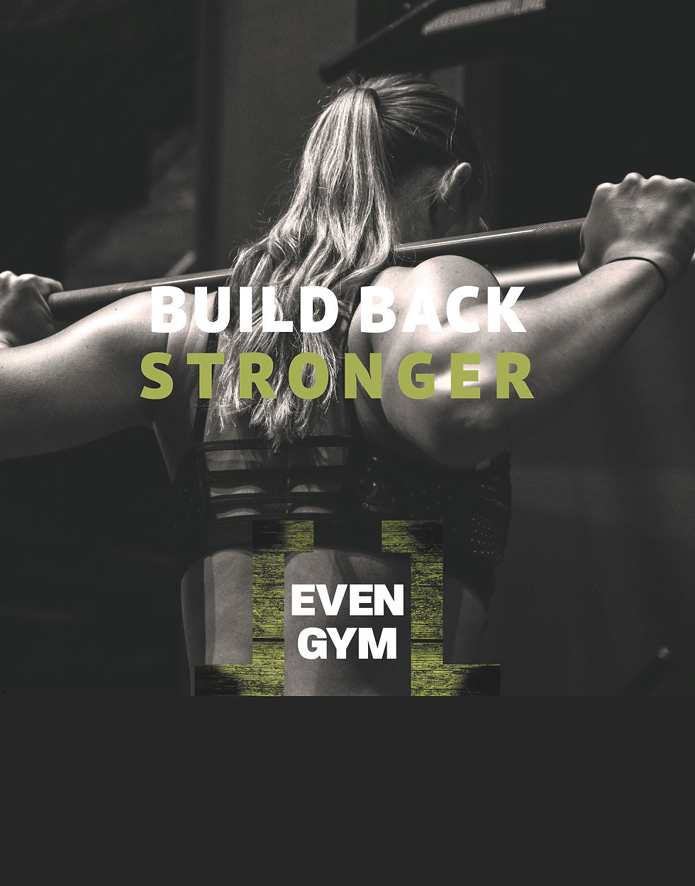 Build Back Stronger achtergrond website.