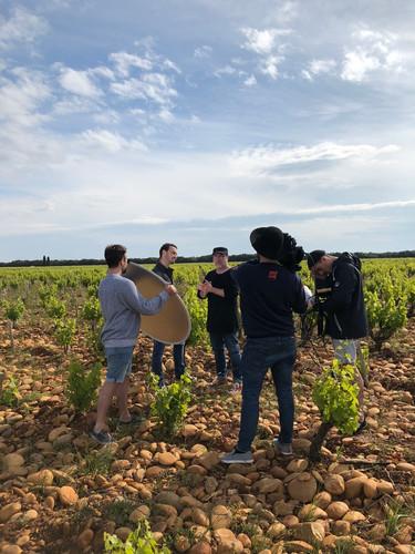 Dans les vignes de la Vallée du Rhône