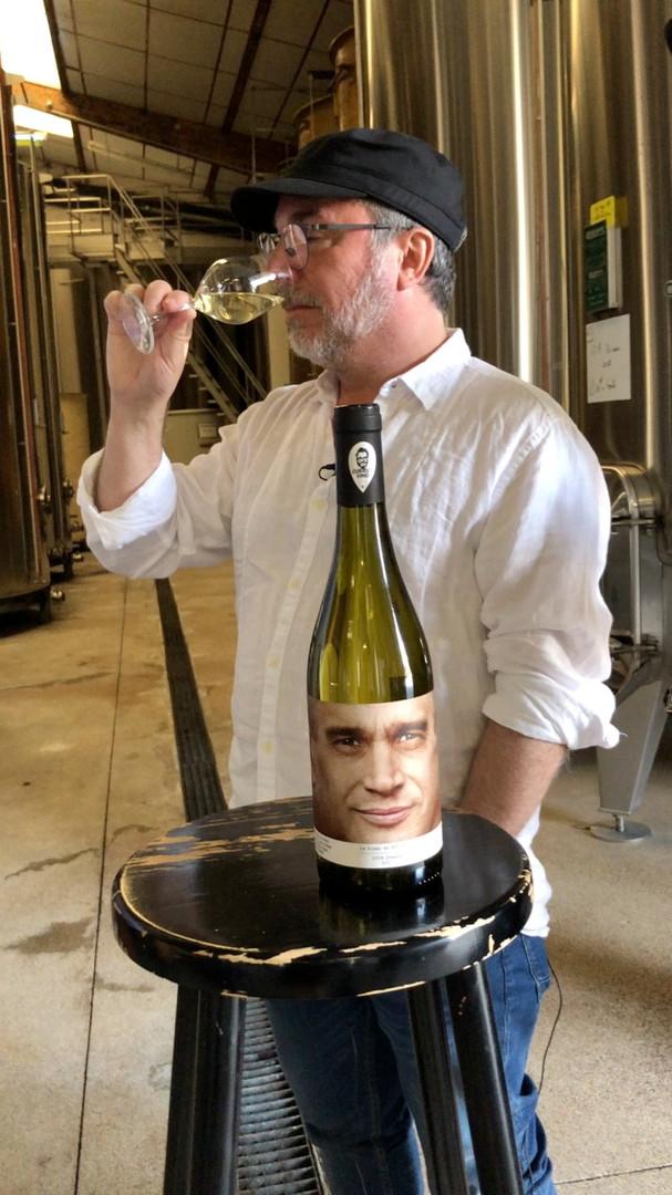 Le vin blanc de Philippe fraîchement sortie de la cuve!