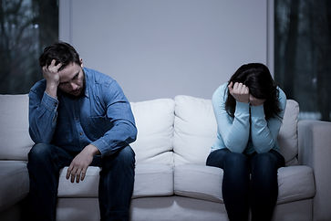 Picture of young couple having difficult
